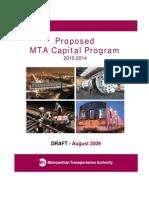 Draft Proposed 2010-2014 MTA Capital Program