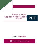 Draft Twenty Year Capital Needs Assessment 2010-2029