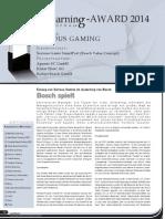 "Know How! AG gewinnt eLearning Award 2014 mit ""Serious Gaming""-Methode bei der Robert Bosch GmbH"