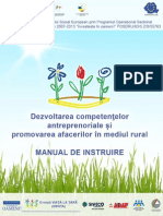 Curs de Antreprenoriat Si Inovare in Mediul Rural