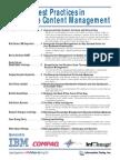 Best Practices in Enterprise Content Management Volume i