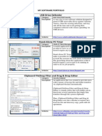 My Software Portfolio