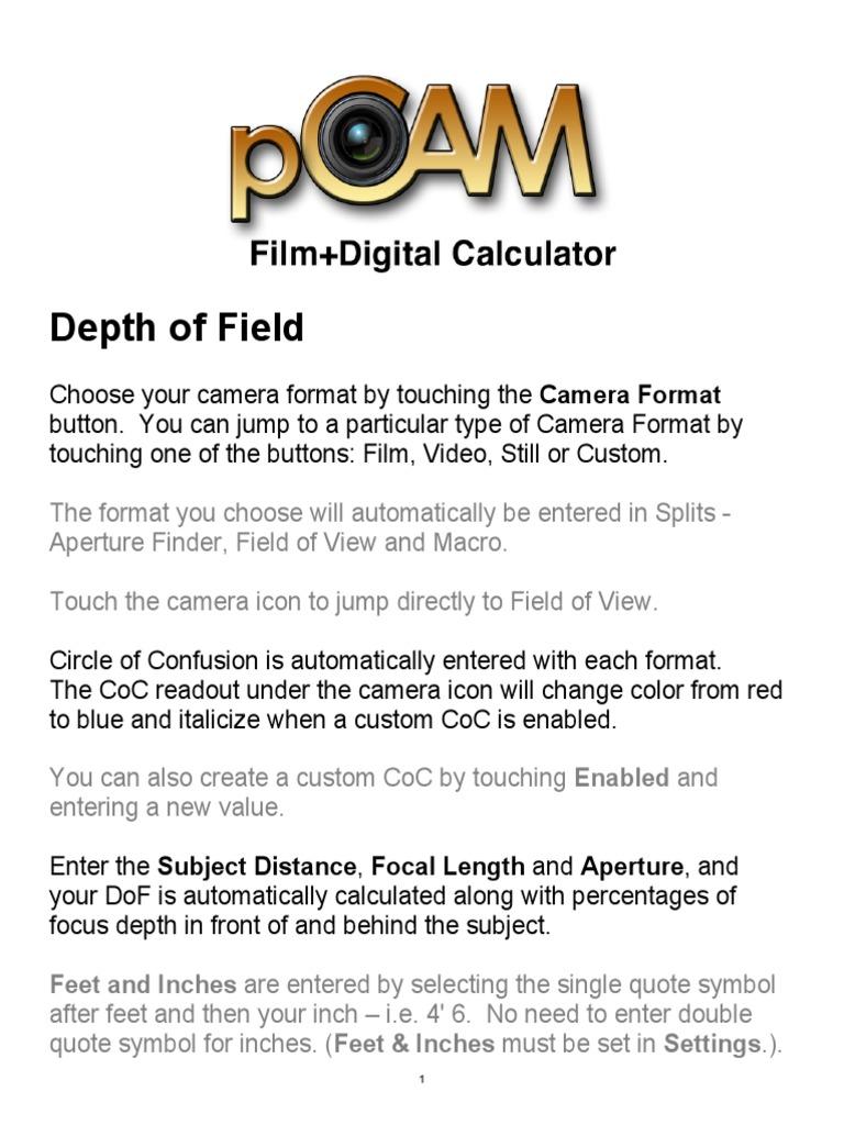 Pcam 423 User Guide Aperture Imaging