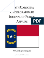 North Carolina Undergraduate Journal of Public Affairs 2013