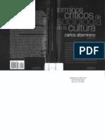 Altamirano Terminos Criticos de Sociologia de La Cultura