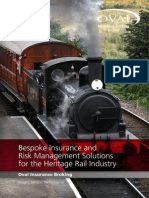 Heritage Rail Insurance Brochure