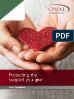Oval Charity Insurance Brochure