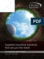 Oval Leisure Insurance Brochure