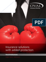 Oval Professions Insurance Brochure