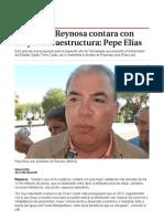20-11-2013 'En el 2014 Reynosa contara con mayor infraestructura_ Pepe Elías'.
