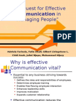 The Quest for Effective Communication in Managing People