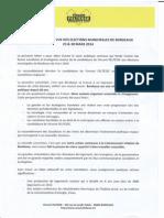 Socle politique commun PS-EELV Bordeaux 2014