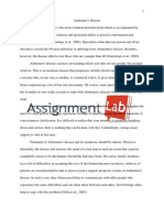 Alzheimer's Disease/ Essay / Paper by AssignmentLab.com