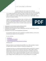 Usar parámetros en consultas e informes
