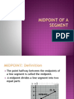 midpoint of a segment