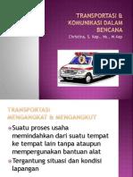 Transportasi & Komunikasi Dlm Bencana