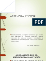 Aprendizaje Social - Bandura