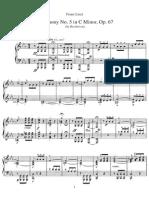 Beethoven Symphonie Nr.5 Klavier Solo
