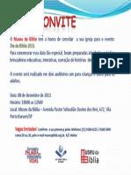 Convites Dia da Bíblia 2013