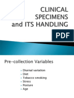 2. SPECIMEN Collection Handling and Transport