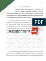 Autonomous Agents Activity/ Essay / Paper by AssignmentLab.com