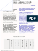 As Consoantes em Inglês e Português - English & Portuguese Consonant Phoneme