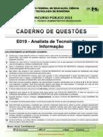 e019 Analista de Tecnologia Da Informa o