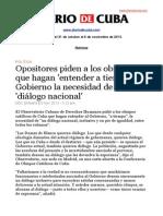 Boletín de DIARIO DE CUBA |  Del 31 de octubre al 6 de noviembre de 2013.