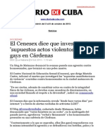 Boletín de DIARIO DE CUBA | Del 3 al 9 de octubre de 2013