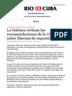 Boletín de DIARIO DE CUBA | Del 19 al 25 de septiembre de 2013.