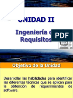 Unidad II. Ingenieria de Requisitos