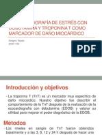 Ecocardiografía de estrés con dobutamina y troponina T