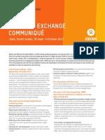 WWS Learning Exchange 2013 Communiqué