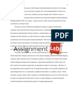Dynamic Interrelationship Between the Core Concepts/ Essay / Paper by AssignmentLab.com
