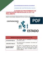 TIPOS Y MODALIDADES DE CONTRATACIÓN CON EL ESTADO