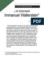 Entre Vista a Wallerstein
