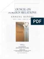 Council on Foreign Relations Rosters 2007-2013