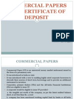 certificate of deposit and commercial paper