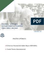 Política Integral de envejecimiento positivo para Chile 2012-2015 (1)