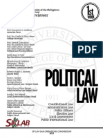 UP Bar Reviewer 2013 - Political Law