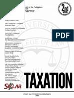 UP Bar Reviewer 2013 - Taxation