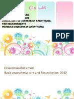 Anesthesia intro