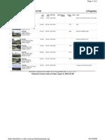 Property Transaction Report 7Aug2009