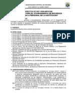 Directiva Encargo Interno