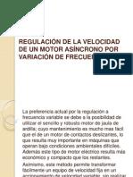 REGULACIÓN DE LA VELOCIDAD DE UN MOTOR ASÍNCRONO