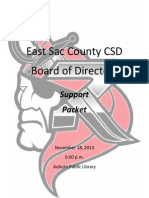 November 18, 2013 ESC School Board Packet