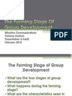 The Forming Stage of Group Development