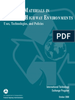 Recycled Materilals in European Highway Environments