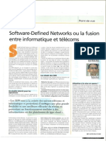 Software-Defined Networks ou la fusion entre informatique et telecoms