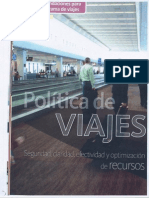 Articulo sobre Política de viajes